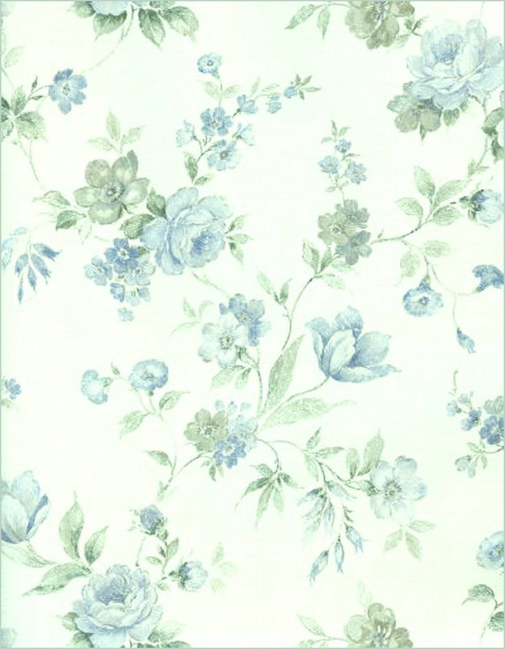 Blue and White Floral by *Beinspyred on deviantART