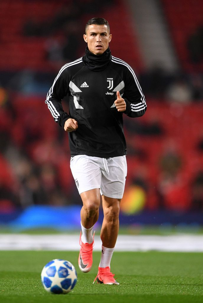 612de37dce8 Cristiano Ronaldo of Juventus warms up prior to the Group H match of the  UEFA Champions League between Manchester United and Juventus at Old  Trafford on ...