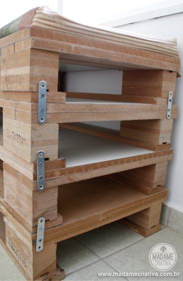 Como fazer um banco de pallets de MDF - Dicas de como fazer e onde comprar - passo a passo com fotos - Pallet bench - Tutorial - How to - DIY - Madame Criativa - www.madamecriativa.com.br