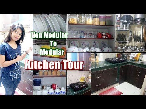 Kitchen Tour Modular Kitchen In Low Budget Small Indian Kitchen