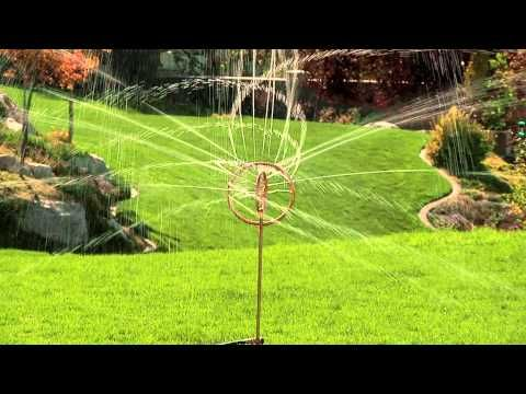 The Orbit Decorative Spinning Sprinkler Allows You To Water Your Lawn Or  Garden In Style.