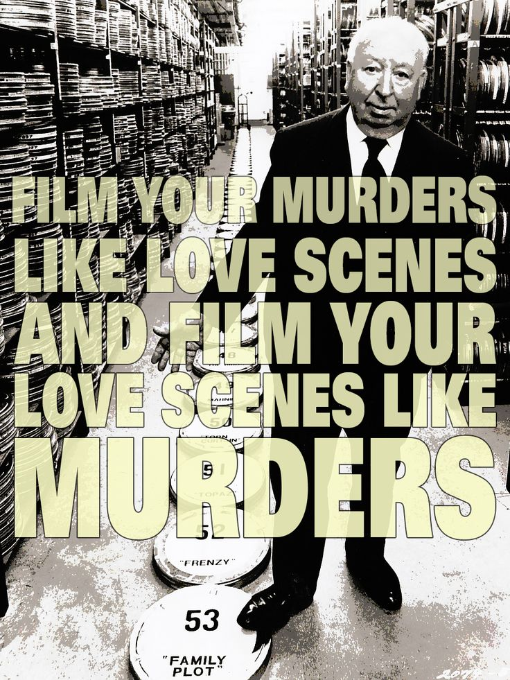 Film Director Quotes - Alfred Hitchcock - Movie Director Quotes #hitchcock #hitch
