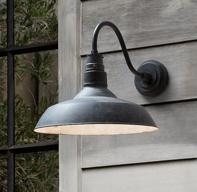 Vintage Barn Outdoor Sconce In 2020 Outdoor Sconces Porch Lighting Barn Lighting