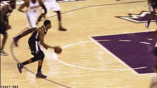 Rudy Gay Dunks on defender nba basketball gifs nba gifs dunks rudy gay gifs dunked on star player