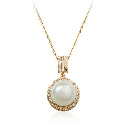 Природный 8 - 9 мм белый культивированный жемчуг кулон ожерелье с кулоном ожерелье для девочки