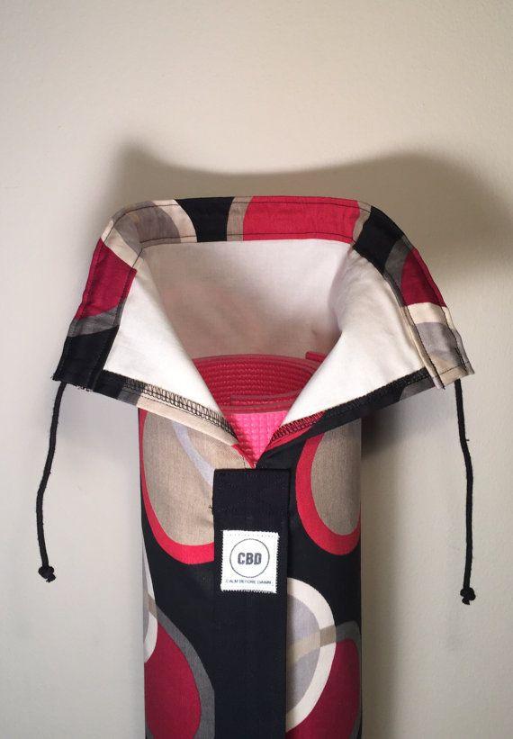 Handmade Large Yoga Bag Yoga Mat Bag Pilates Mat by CalmBeforeDawn
