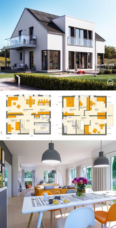 Two Floor House Plans Modern Contemporary European…