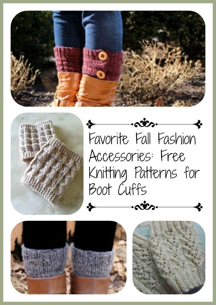 Favorite Fall Fashion Accessories: 13 Free Knitting Patterns for Boot Cuffs | AllFreeKnitting.com