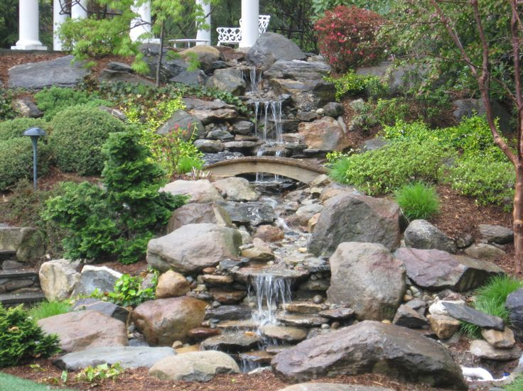 251 best images about waterfall in the landscape on for Pond stream design