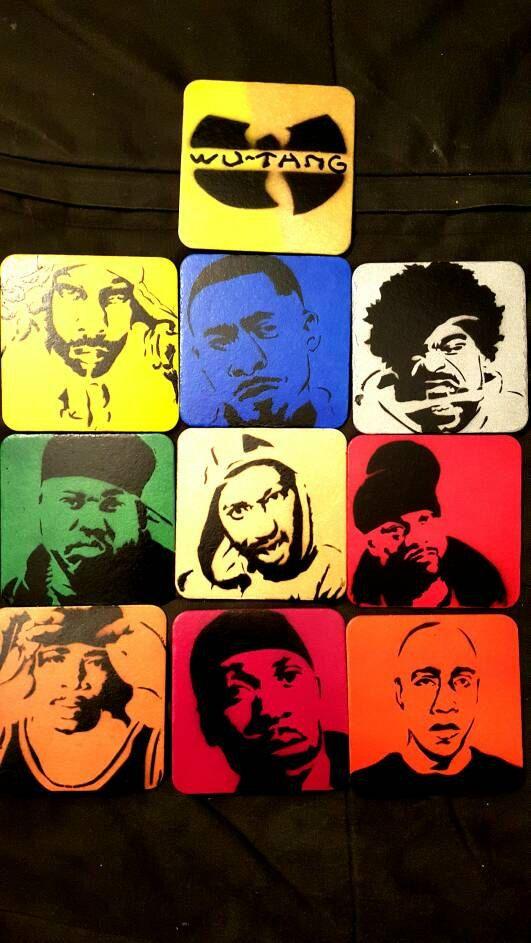 Wu Tang Members Coaster Set 2.0 by PaintingsThatPop on Etsy