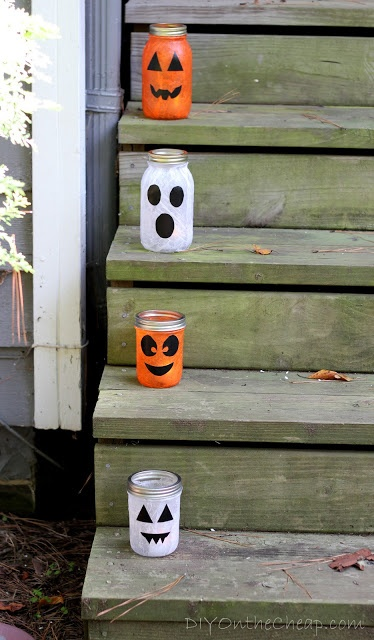Mod Podge Halloween Lanterns - a fun and easy (and inexpensive!) craft.