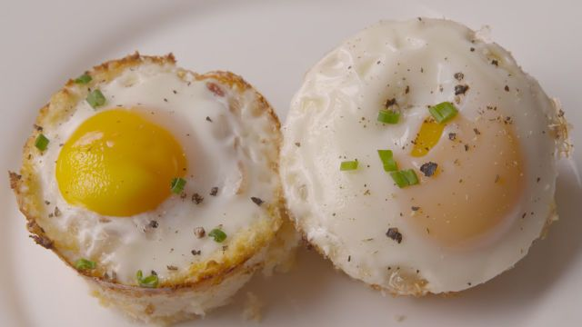 Cauliflower Hashbrown Egg Cups  - Delish.com