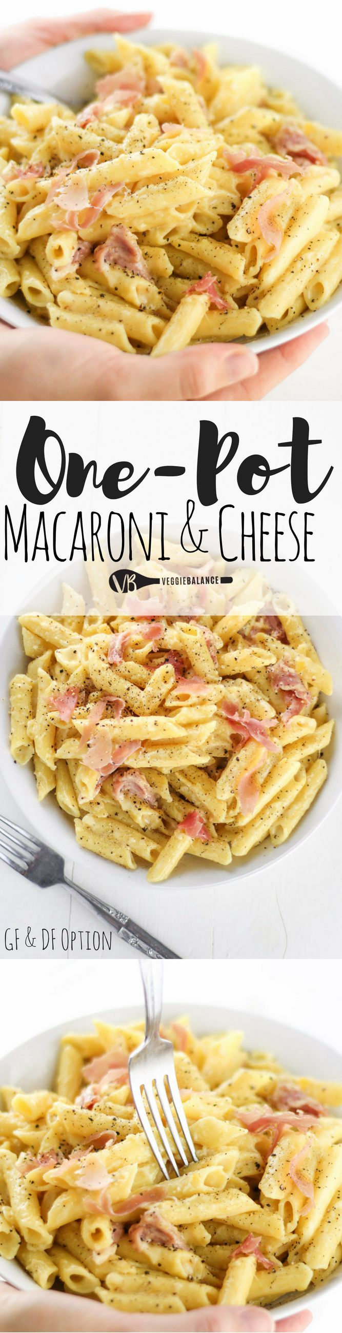 Gluten-Free Macaroni and Cheese made in one pot in less than 30 minutes. Gooey and creamy macaroni and cheese with prosciutto tossed in makes the best dinner ever.