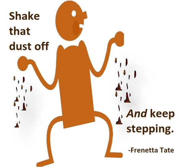 Shake off and step up