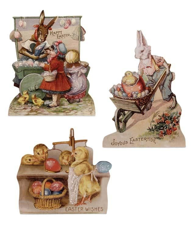 Farmers Market Dummy Boards with Vintage Easter Images - TheHolidayBarn.com