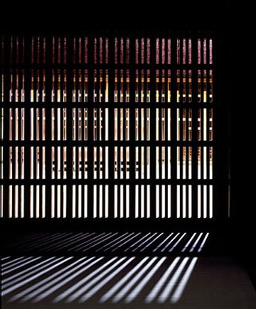 Timber screen Light and shadow