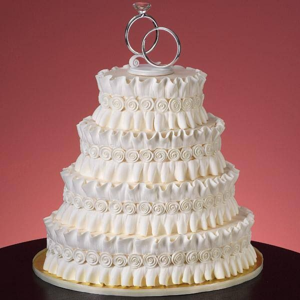 pictures of wedding cakes without fondant