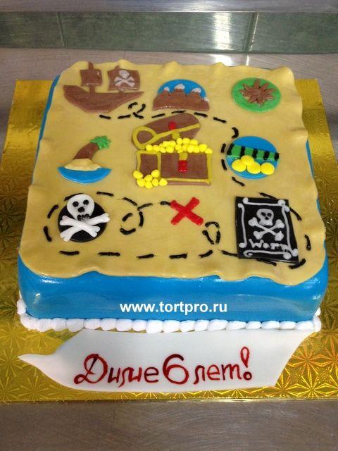 Торт для мальчика Пиратская карта Д-534