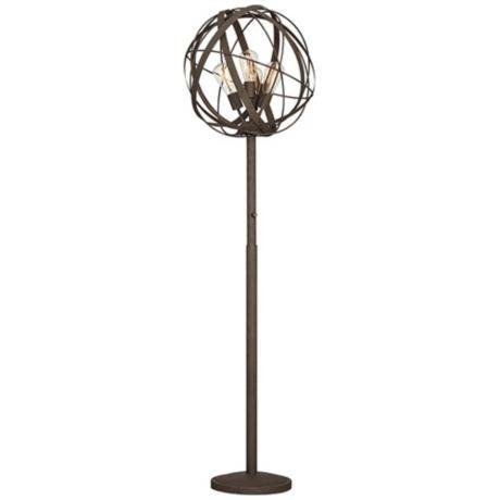 possini euro design orbital weave industrial floor lamp. Black Bedroom Furniture Sets. Home Design Ideas