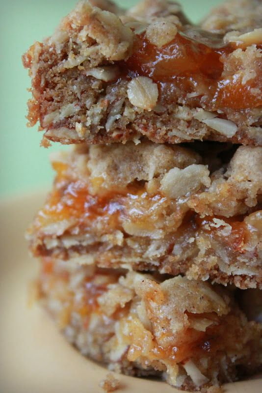 Apricot Oat Bars | Sweet Dreams | Pinterest