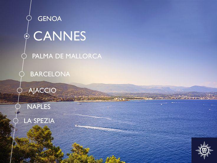 Een prachtige kustlijn met de Franse Riviera op de achtergrond. Ontdek de schoonheid van Cannes. #MSCFantasia