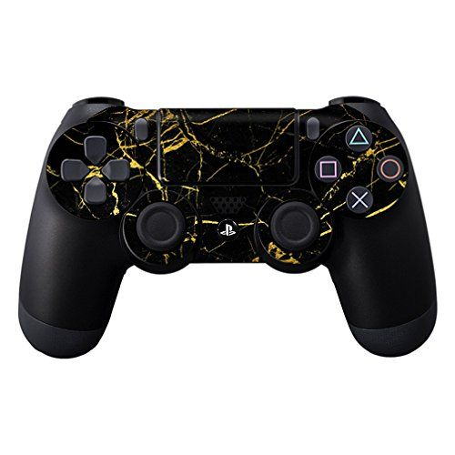 MightySkins Protective Vinyl Skin Decal for Sony PlayStation DualShock PS4 Controller Case wrap cover sticker skins Black Gold Marble *** Check this awesome product by going to the link at the image.Note:It is affiliate link to Amazon.