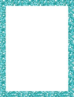 blue glitter border paper page