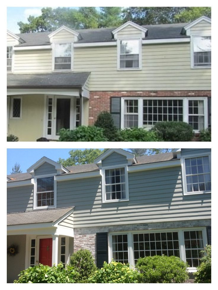 195 best house ideas images on pinterest for Painted brick houses with siding