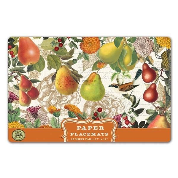 Golden Pear Paper Placemats
