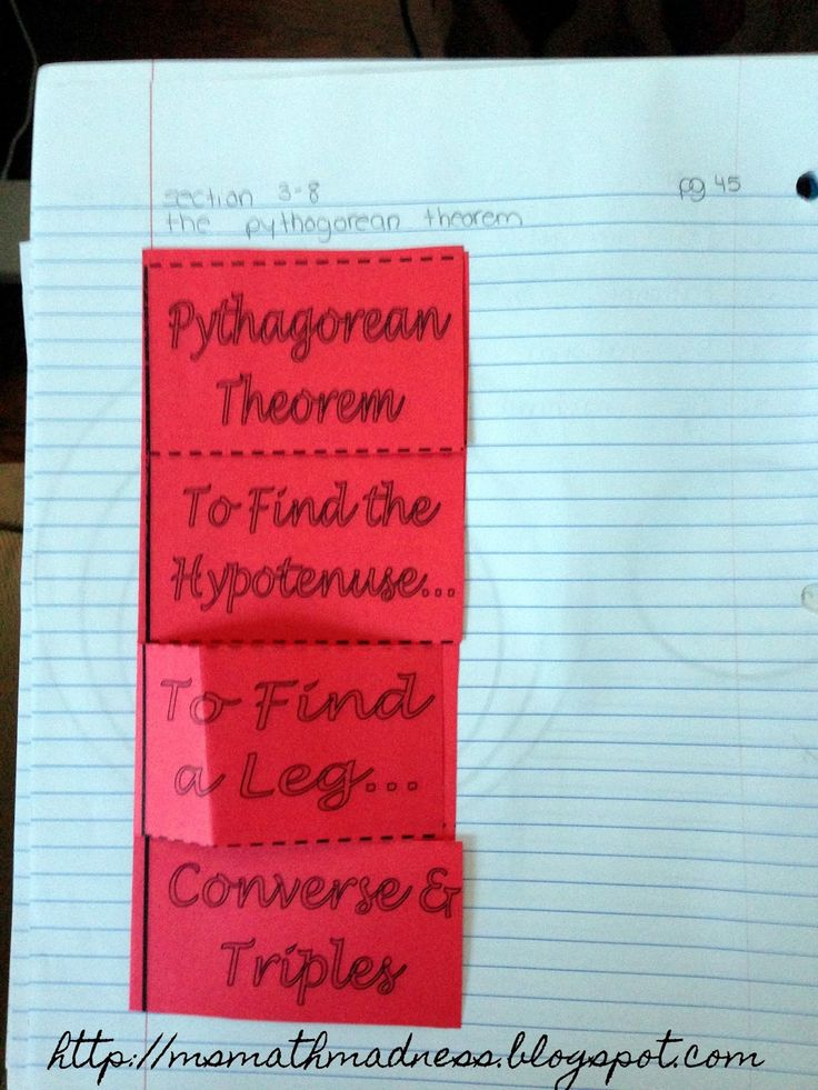 Pythagorean Theorem Foldable - Middle School Math Madness!