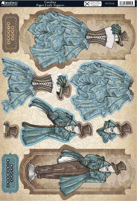 Vintage dress form 3D topper
