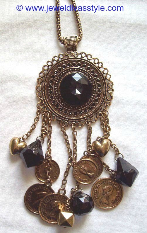 JDS - BLACK COIN NECKLACE - http://jeweldivasstyle.com/my-personal-collection-black-jewellery-10/