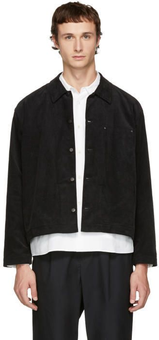 Undecorated Man Black Corduroy Jacket