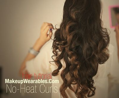 pix+2 outmark Kim Kardashian Hairstyles, How to No Heat Curls | Hair Tutorial Video