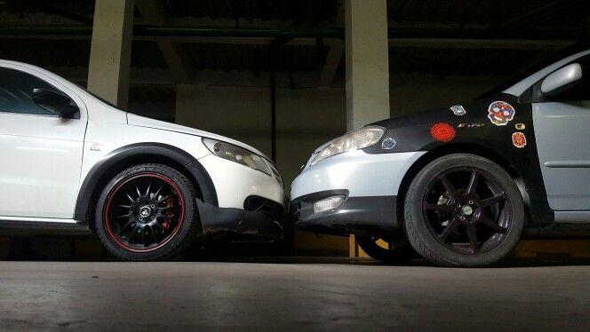 """Race bro' Saveiro 2012 1.6 0-60 mph 17"""""""