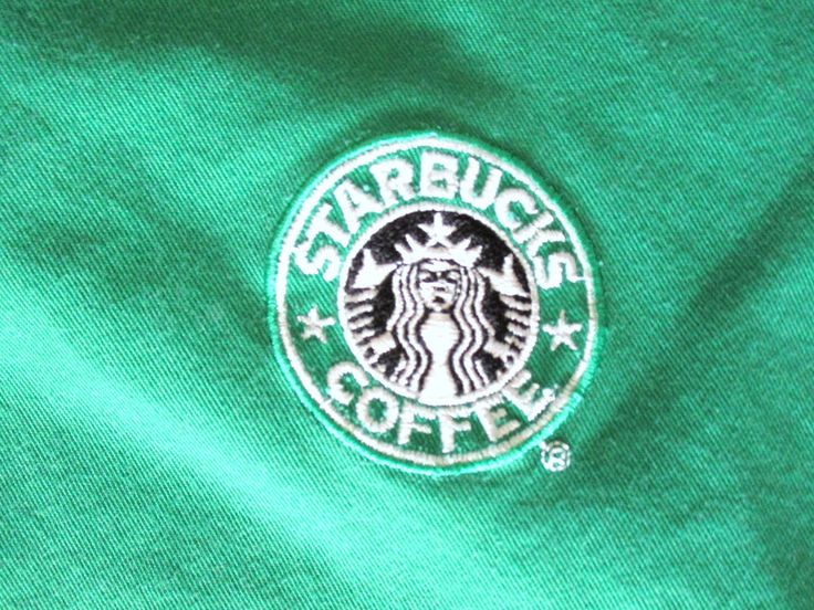 Starbucks Apron Green and Black Mermaid Retired Old Logo Patch Pre-Owned #Starbucks