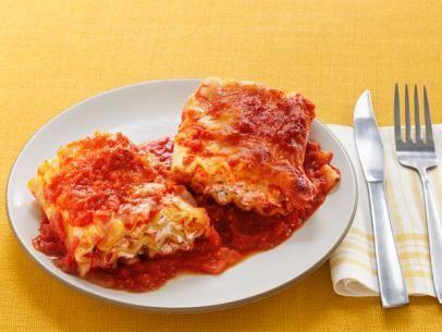 Lasagna Marinara Rolls: Food Network, Lasagna Rolls Recipe, Pasta Italian, Marinara Rolls, Cooking, Lasagna Marinara, Anne Burrell, Dinner Recipese, Lasagna Recipe
