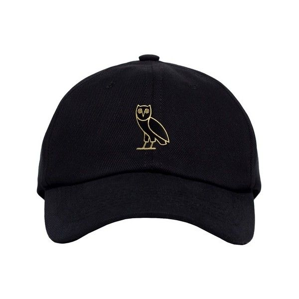 GOLD OWL DENIM SPORTCAP ($45) ❤ liked on Polyvore featuring accessories, hats, fillers, headwear, gold hats, denim hat and owl hat