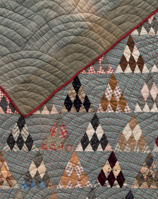 This Sugarloaf antique quilt was hand quilted with a Baptist Fan motif. In the book Preserving History, discover more common quilting motifs that were used during the turn of the century.