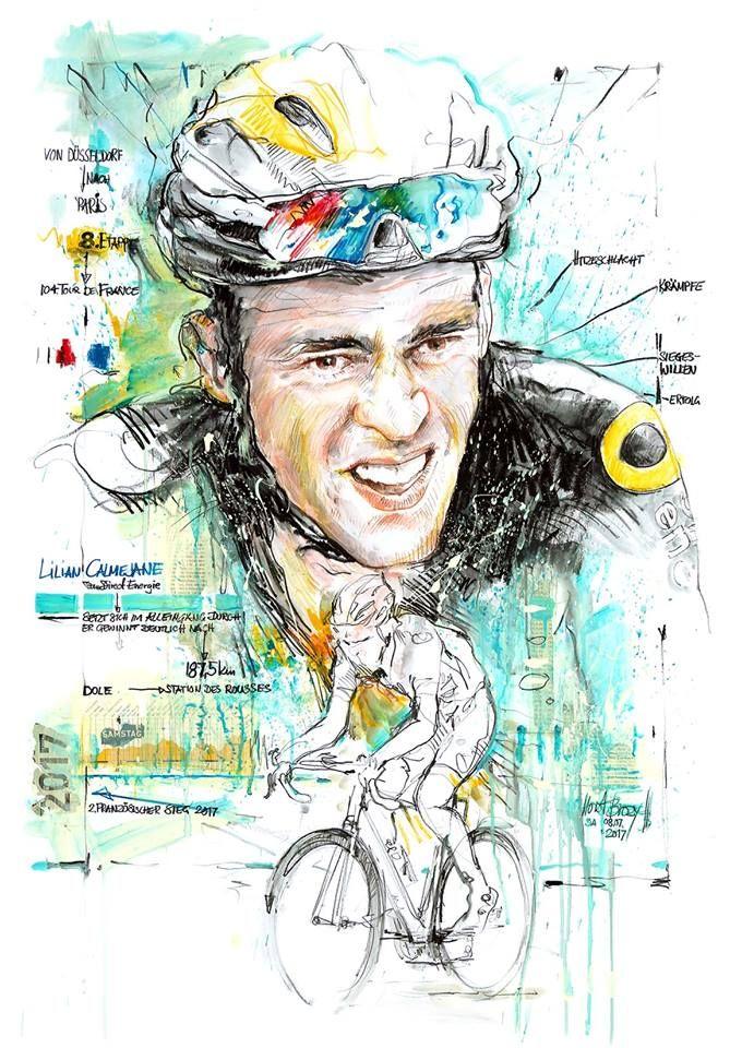 Lilian Calmejane wins Stage 8 Tour de France 2017 by Horst