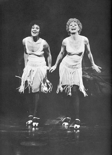 "Chita Rivera & Gwen Verdon from the original 1975 Broadway cast of ""Chicago"" created by Bob Fosse."