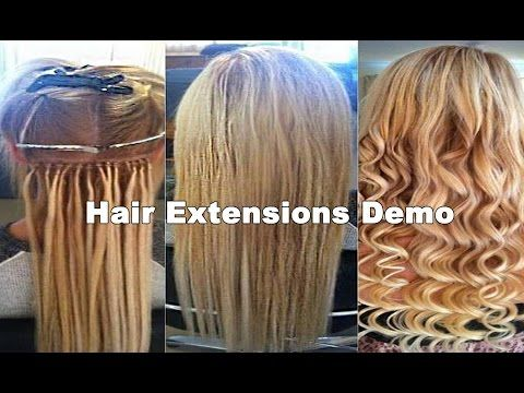 ✄ Hair Extension Class: Micro Beading Extensions ★ - YouTube