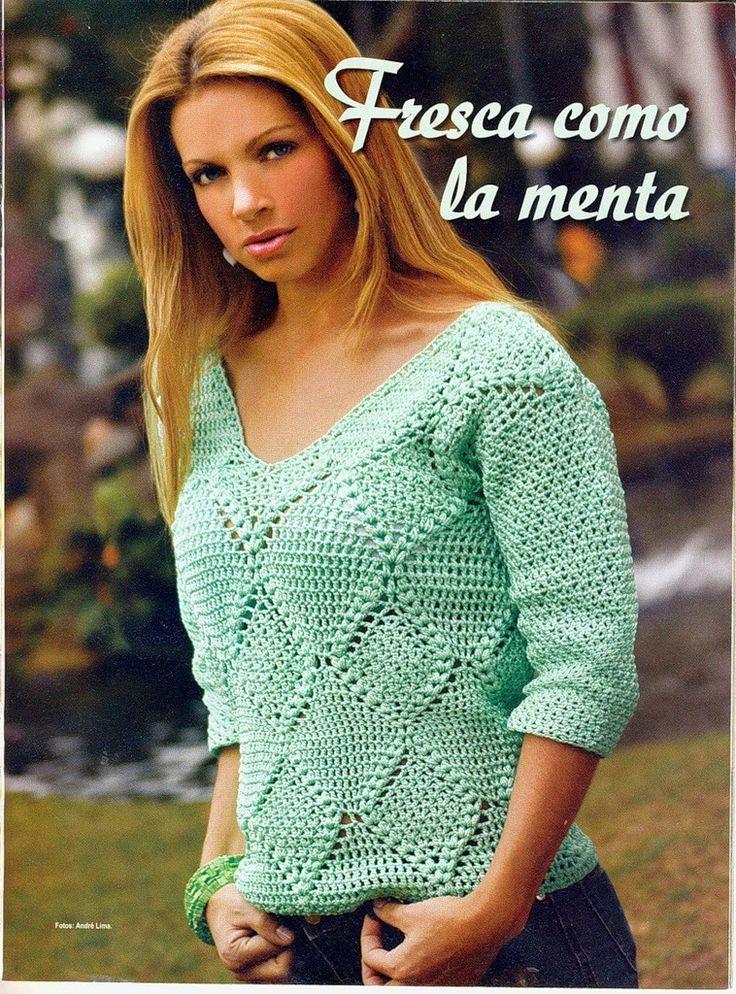Koszula z długim rękawem: Crochetpedia