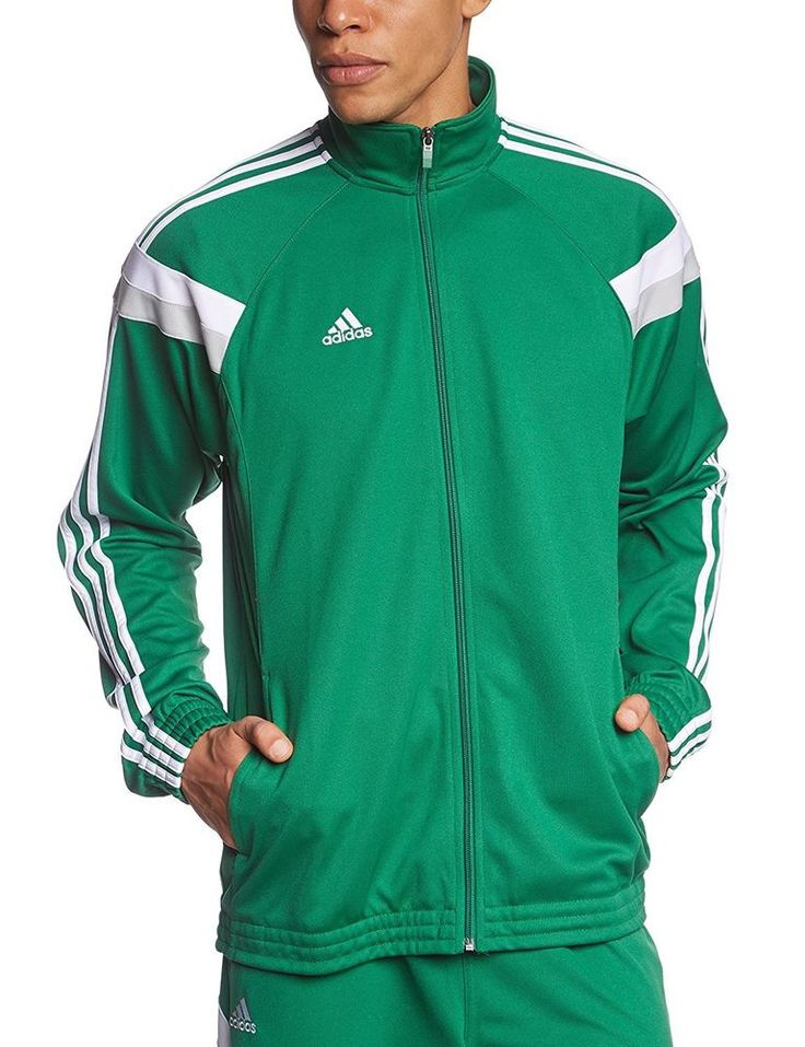Mens New Adidas Command Full Zip Track Top Tracksuit Jacket - Green