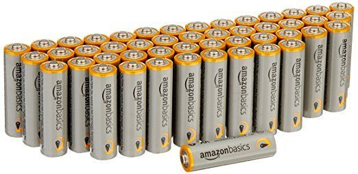 AmazonBasics AA Performance Alkaline Batteries (48-Pack) - Packaging May Vary