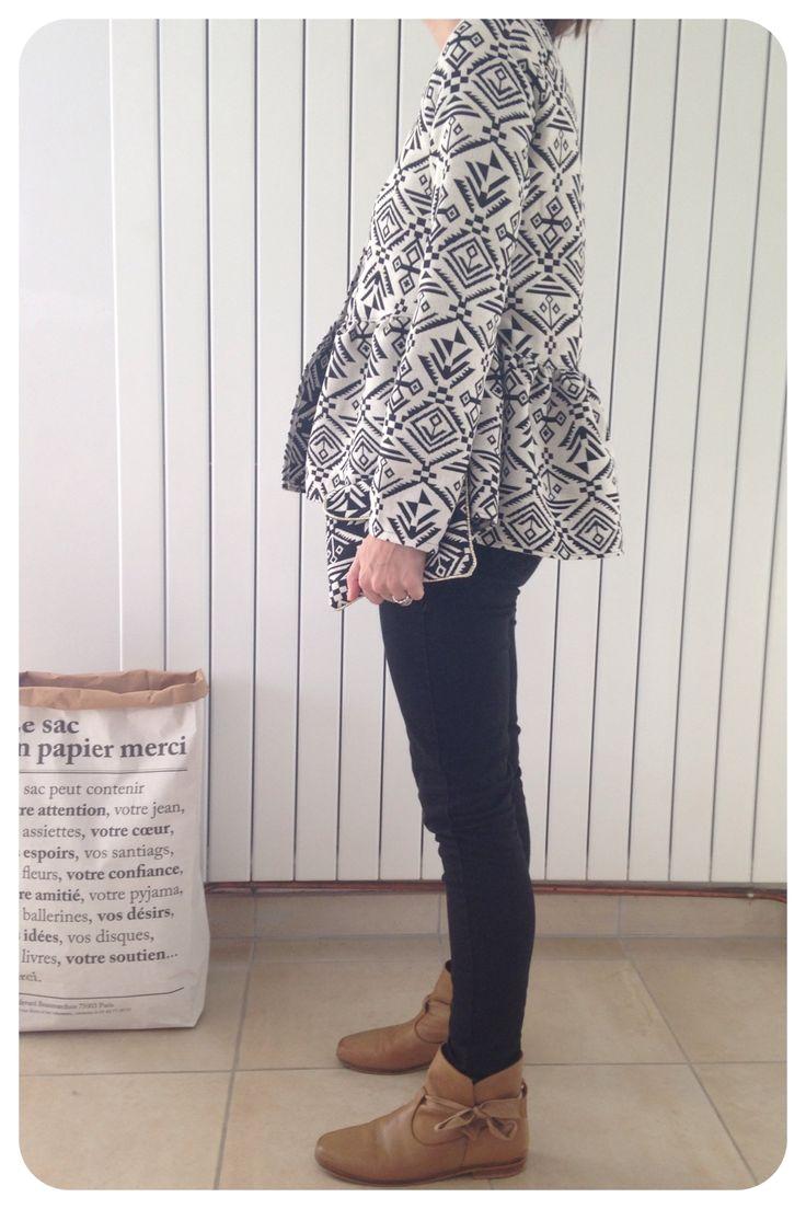 Patron blouse Marthe devenu veste Marthe de République du chiffon