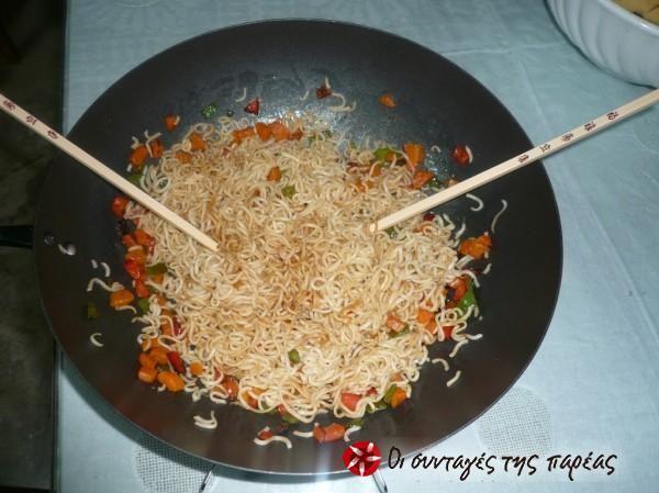 Noodles  με λαχανικά #sintagespareas