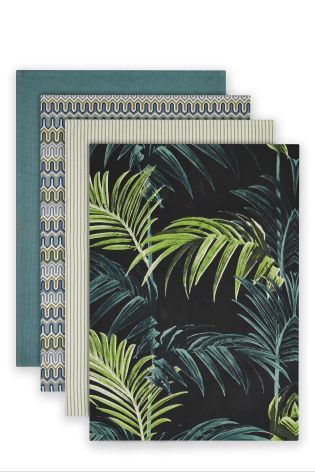 Buy Set Of 4 Palm Print Tea Towels online today at Next: Israel