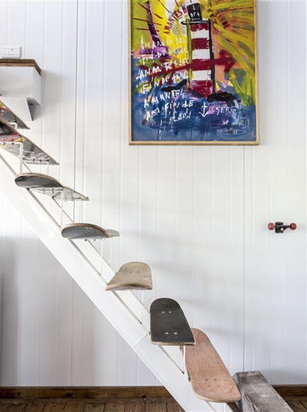 Skateboard-Treppe! Perfekt für Jungs und Junggebliebene ;-) Zum Beispiel für's Hochbett...