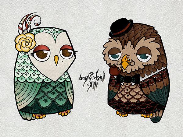 The Owls by Boy Roland Pinned by www.myowlbarn.com